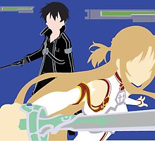 Sword Art Online Asuna and Kirito by harusoul1