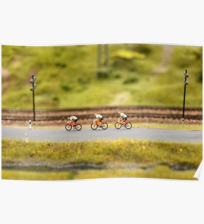 cyclists on the road  Poster