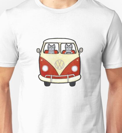 Two Cats in a Bus Road Trip T-Shirt