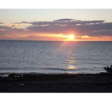 Sunset Over Sea Photographic Print