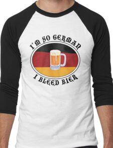 I'm So German I Bleed Bier Men's Baseball ¾ T-Shirt