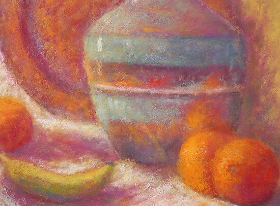 Still life with oranges by Julia Lesnichy