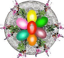 Easter eggs and geranium for Health  by kseniako