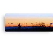 Orange Sunset, Blue Fog Canvas Print