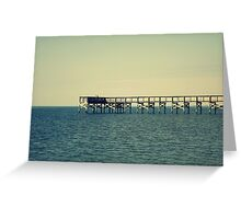 Fort Island Fishing Pier Greeting Card