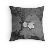 two tone leaf Throw Pillow