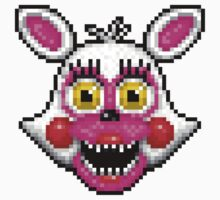 Adventure Funtime Mangle - FNAF World - Pixel Art One Piece - Short Sleeve