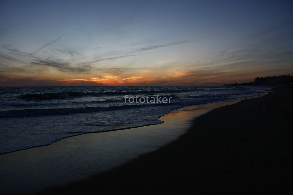 Golden Sliver of Beach by fototaker