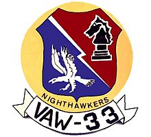 VAW-33 Nighthawkers (Firebirds) Photographic Print