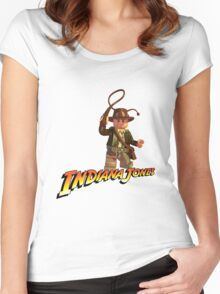 Indiana Jones - Lego version Women's Fitted Scoop T-Shirt