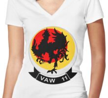 VAW-11 Early Elevens Women's Fitted V-Neck T-Shirt