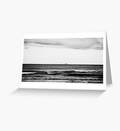 Distant Skyline Greeting Card
