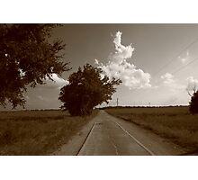 Oklahoma Route 66, 2008, Sepia Photographic Print