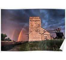Grain Elevator Saskatchewan sunset Parkbeg weathered Poster
