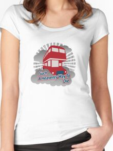 Such A Heavenly Way To Die - cloud version Women's Fitted Scoop T-Shirt