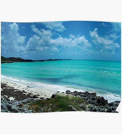 Carribean Blue Poster