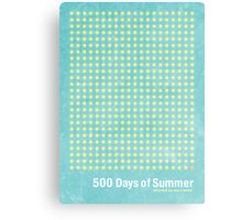 """500 Days of Summer""-minimalist poster design Canvas Print"