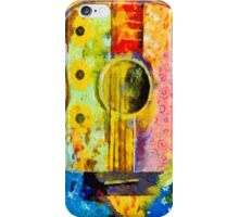 Hand Painted Colorful Guitar iPhone Case/Skin