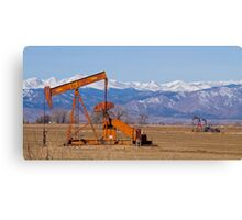 Colorado Oil Well Panorama Canvas Print