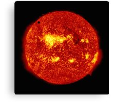 Venus in Transit Across the Sun - Red Canvas Print