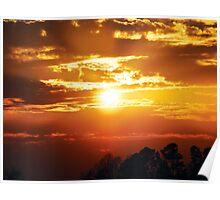 Fire Sunset Poster