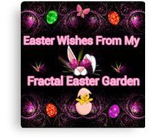 My Fractal Easter Garden Canvas Print