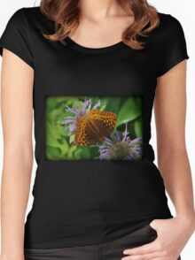 Orange Summer Women's Fitted Scoop T-Shirt