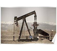 Oil Well Seesaw for the Birds Poster