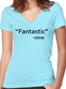 dr who quote Women's Fitted V-Neck T-Shirt
