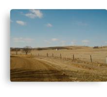 Little School on the Prairie Canvas Print