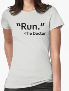 dr who quote Womens Fitted T-Shirt