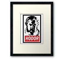 Obey Hordor Framed Print
