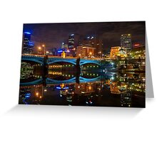 Reflective City Greeting Card