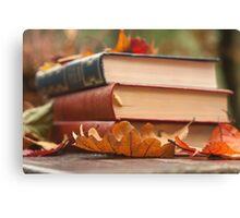 autumn reading  Canvas Print