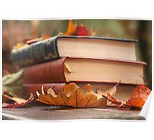autumn reading  Poster