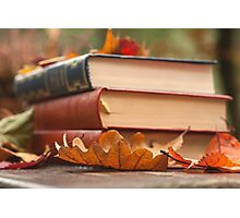 autumn reading  Photographic Print