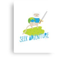 """Seek Adventure"" Kitty Canvas Print"