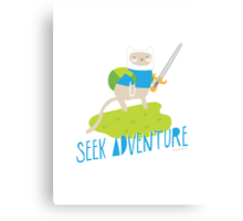 """Seek Adventure"" Kitty Canvas Print"