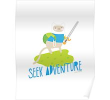 """Seek Adventure"" Kitty Poster"