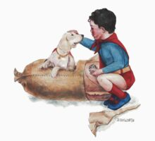 Superbaby Meets His Dog: A Rockwell Parody by Jesse Rubenfeld