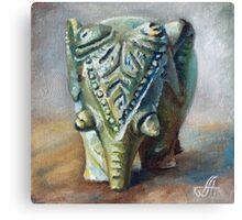 Stone Elefant Canvas Print
