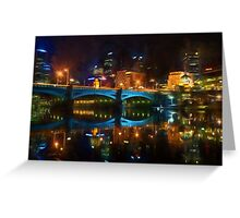 Reflective City      (GO2) Greeting Card