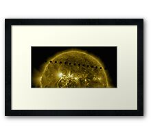 Venus in Transit Across the Sun - Sequence Framed Print