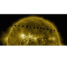 Venus in Transit Across the Sun - Sequence Photographic Print