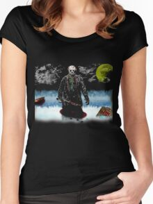 Jason Voorhees- camp crystal lake Women's Fitted Scoop T-Shirt