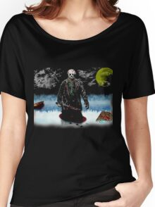Jason Vorhees- camp crystal lake Women's Relaxed Fit T-Shirt