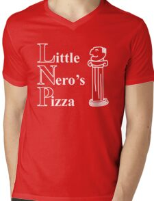Little Nero's Pizza Mens V-Neck T-Shirt