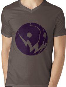 Grin: Ball Purple Mens V-Neck T-Shirt