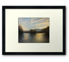 Light At The End of The Day Framed Print