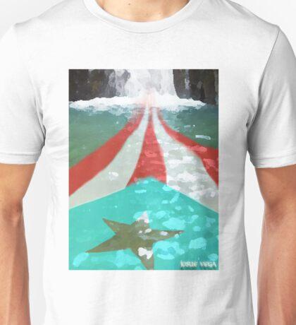 Puerto Rico River Flag Style Unisex T-Shirt
